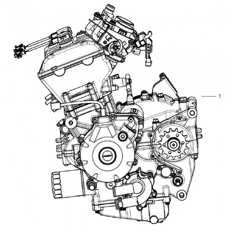 COMPLETE ENGINE Benelli Leoncino 500