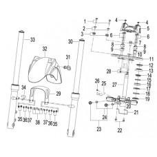 Keeway RKS 125i Sport EVO, original parts