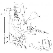Keeway RKV 125 EFI, original parts