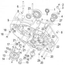 Keeway RKV 125i Facelift, original parts