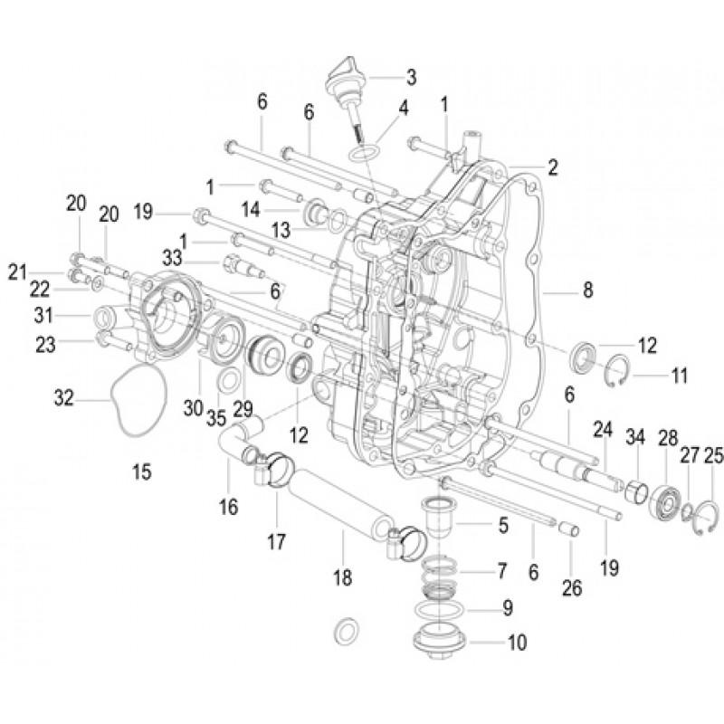 COVERCASE RH Keeway Silverblade 125 EFI