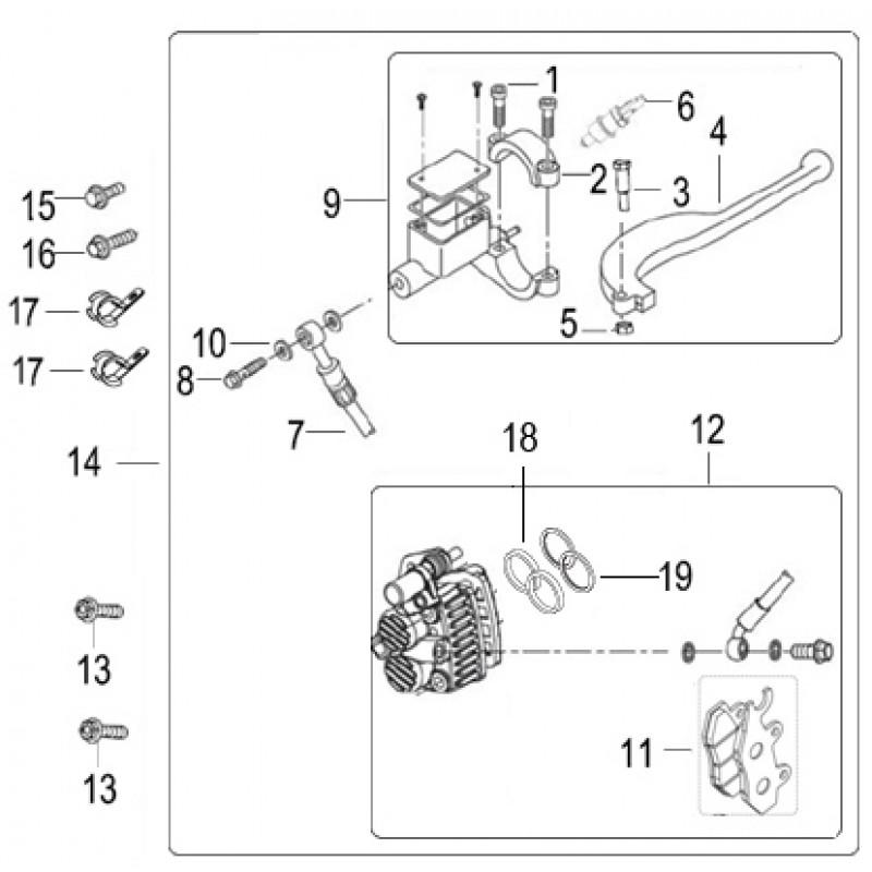 FRONT DISK BRAKE Keeway Silverblade 125 EFI