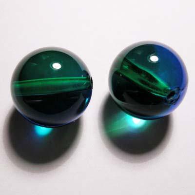 acryl rond groen blauw 17 mm