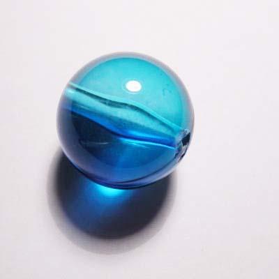 acryl rond azuurblauw 20 mm