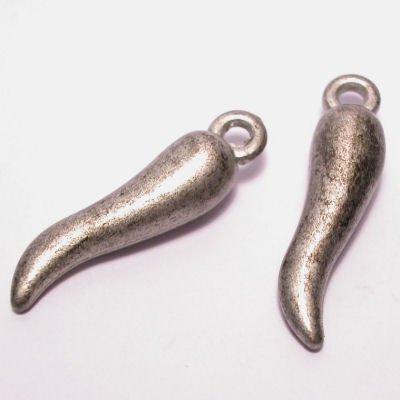 tand zilver gemeleerd 8x30 mm