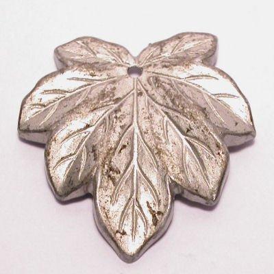 blad zilver gemeleerd 27x28 mm