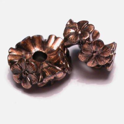 schijf bloemenrand roodkoper 17 mm