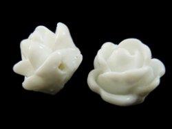 kunststof roosje 9 mm wit