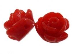 kunststof roosje 9 mm rood