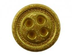 cabochon knoop metallic goud 15mm