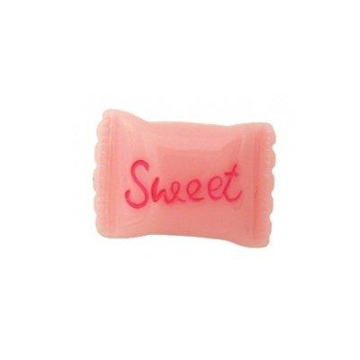 cabochon snoep roze 16x23 mm