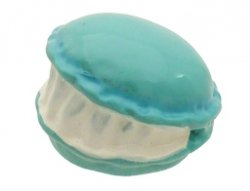 cabochon macaron aqua blauw 16 mm