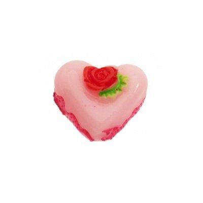 cabochon bonbon roze 14 mm