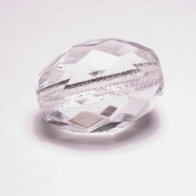 facet ovaal  crystal  9x12 mm