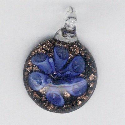 bloem 40x30 mm blauw