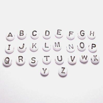 letterkraal wit 7 mm  H