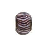 pandorastyle glas rondel 13mm zwart zebra