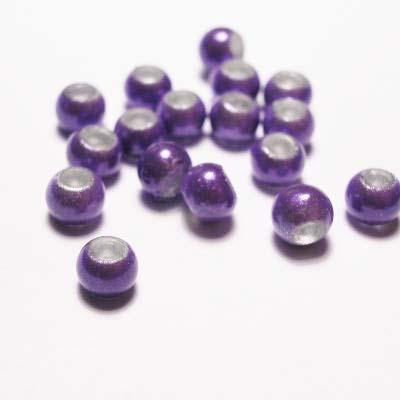 miracle bead lilapaars 4 mm