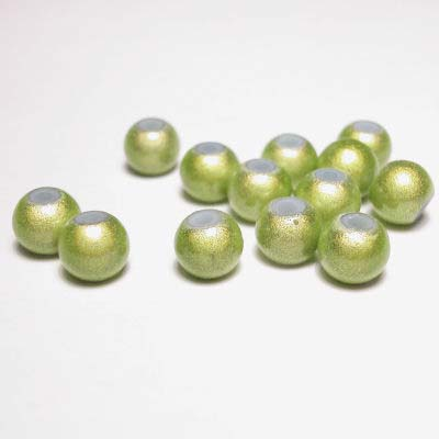 miracle bead lichtgroen 6 mm