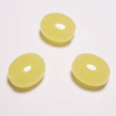 ovaal plat geel 12x10 mm