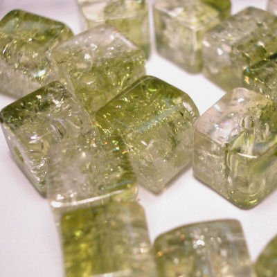 crushed beads 8x8 mm kleur 8320
