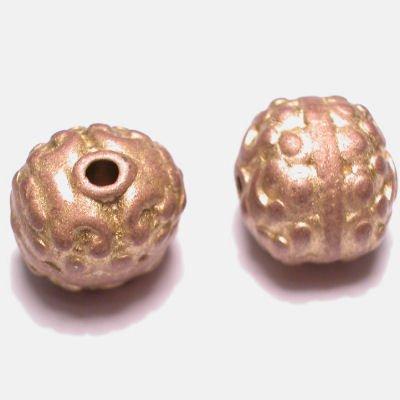 ethnic rond mat goud 12x13 mm