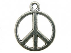 metalen hanger peace symbool 13 mm