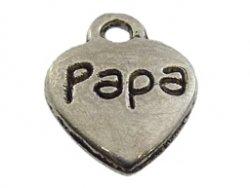 metalen hanger hart papa 9x12 mm