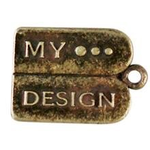 "metalen hanger ""My Design"" 15x12 mm"