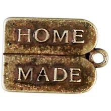 "metalen hanger ""Home Made"" 15x12 mm"