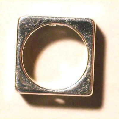 kraal verzilverd open vierkant