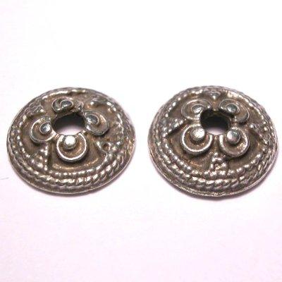 metalen kraal kapje zilver 13 mm