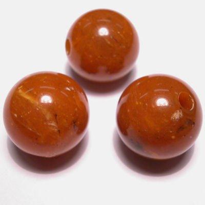 etnisch rond oranjebruin 14 mm