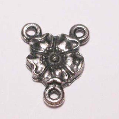 bloem 3-oog oud zilver 11 mm
