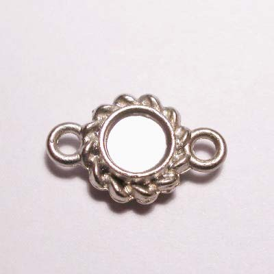 kastje 2-oog mat zilver 7 mm