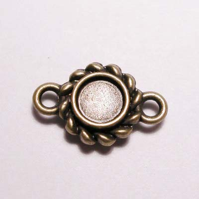kastje 2-oog oud goud 4 mm