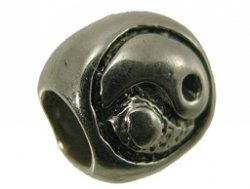 pandora stijl kraal ying yang 7x8 mm