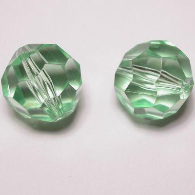 Kraal facet l.groen 14 mm