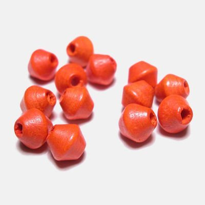 kraal konisch oranje 6 mm