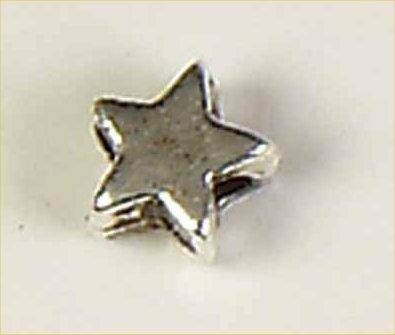 kraal verzilverd ster klein 5 mm