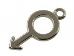 metal look hanger man 12x25 mm
