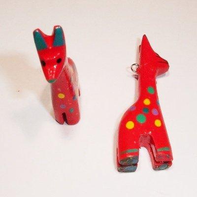 bedel giraf rood ca. 46x13 mm