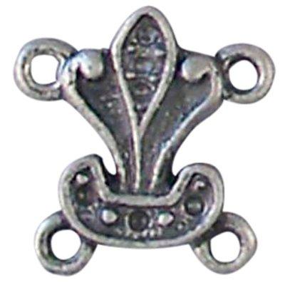 metalen franse lelie oud zilver 14 mm