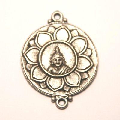 tussenzetsel buddha antiek zilver