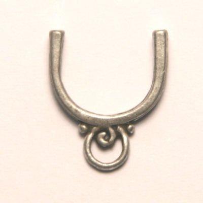 tussenzetsel voor 12mm kraal antiek zilver