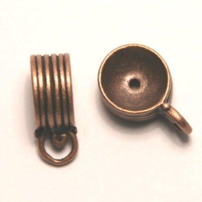 tussenzetsel voor kralen 12mm antiek koper