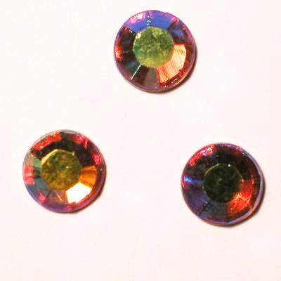 strass plaksteen kristal topaz AB 7 mm