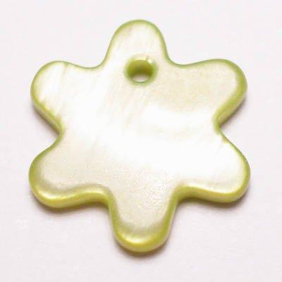 parelmoer hanger zon groen 12 mm