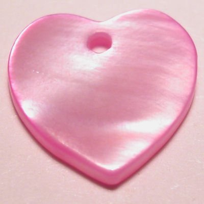 parelmoer hanger hart rose 12 mm
