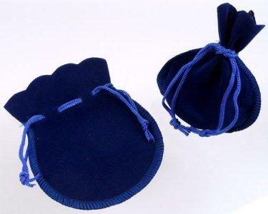 stoffen cadeautasje blauw 105x90 mm